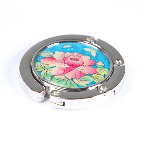 Nacre Porte-Sac à main Accroche Sac Nouveau Pliable Pratique Elégant Pivoine fleur