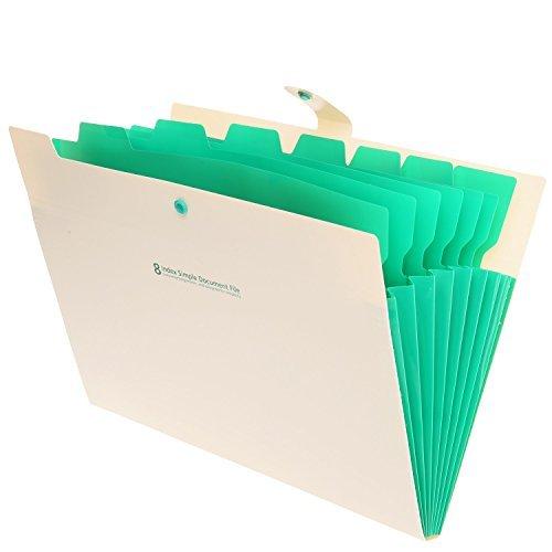 TONVER tragbar Akkordeon Dokument Datei Ordner Fächermappe Buchstabe Organizer, 8 Taschen