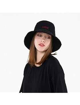 TININNA Moda Pieghevole Cappello da pescatore in cotone Cappello da sole Berretti visiera di Spiaggia