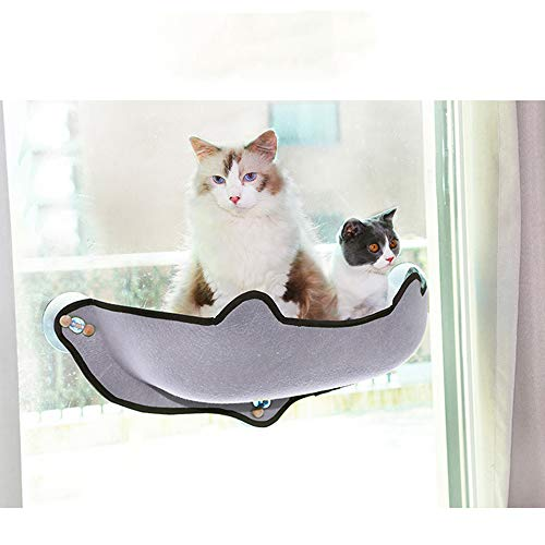 DLDL Suction Cup Cat Hammock Window Sill Cat Hammock Super Strong Suction Cup Cat Litter Glass Window Sill Hanging Bett Most Lovely Creative Pet Beds Warm Cat House Sun Wall Bed (Green, Gray),Gray