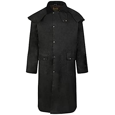 Haven Country Classics LONG WAX WAXED STOCKMANS RIDING COAT JACKET UNISEX ANTIQUE BROWN DOUBLE FOLD WAY WATERPROOF