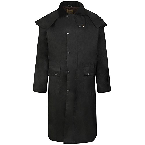 long-wax-waxed-stockmans-riding-coat-jacket-antique-brown-l-46-48-mens-18-20-ladies