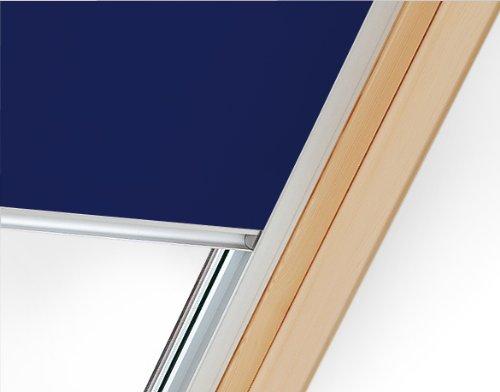 94x118 cm Dachfenster Verdunklungsrollo - dunkelblau. Passend auf SOLSTRO, Velux, Fakro, Dakstra, ROOFLITE, Balio 94x118 wie P06, PK06, P6A (ACHTUNG: Angegebene Maßen stehen für die Aussenmasse des Dachfensters und nicht für die des Stoffs!)