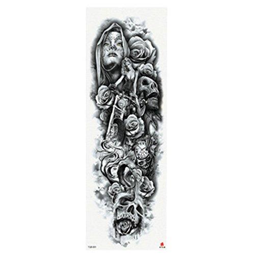 Fashion Temporary Tattoo, voller Arm Körper temporäre wasserdichte Tattoo Aufkleber Aufkleber für Mann & Frauen (Typ A)
