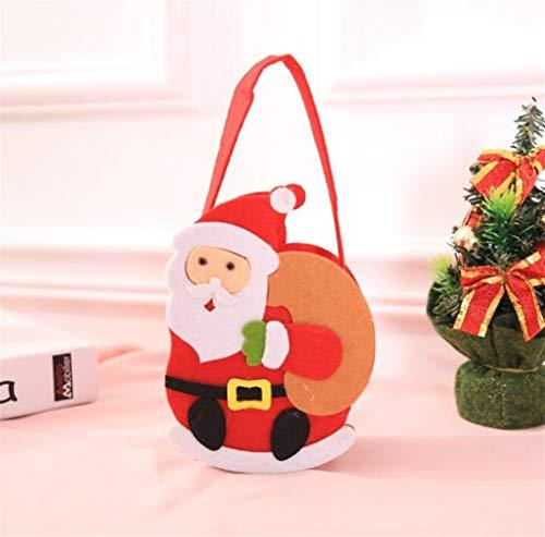 Upstudio Party Taschen Weihnachten Non-Woven Geschenk Tasche Einkaufstasche Heiligabend Süßigkeiten Geschenktüte (Alter Mann 2)
