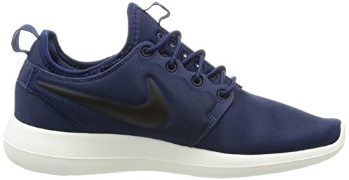Nike Herren Roshe Two Sneakers Blau (Midnight Navy/Black-Sail-Volt)