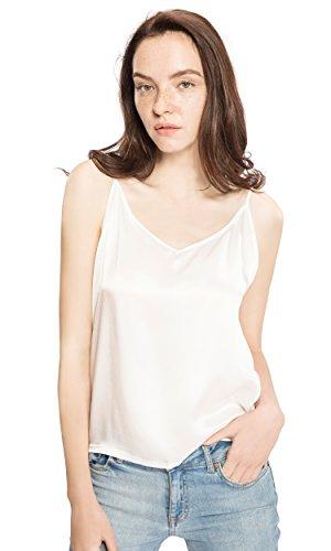 Mommesilk Seidentop Cami Vest Träger Top Unterhemd Damentop Spaghettihemd Damen 16 Momme