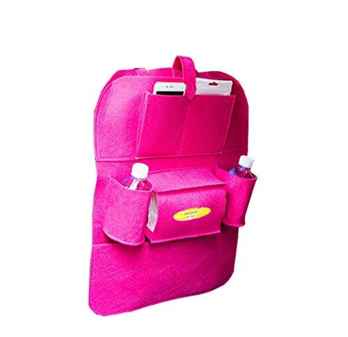 Preisvergleich Produktbild Coolster Auto Auto Sitz Rücken Aufbewahrungsbeutel Multi-Pocket Organizer Halter Aufhänger Taschen (Hot Pink)