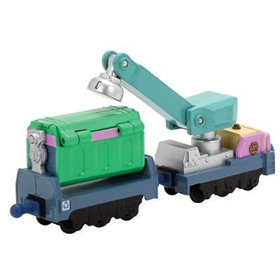 Chuggington Die Cast LC54015 - Erwin Schrott y Recycleanhänger, vehículos fundido rico en detalles, colores y resistente de RC2 (Learning Curve)