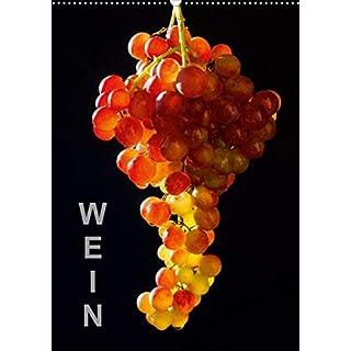 Wein (Wandkalender 2020 DIN A2 hoch): Fotografien von Weintrauben und Rotwein (Monatskalender, 14 Seiten )