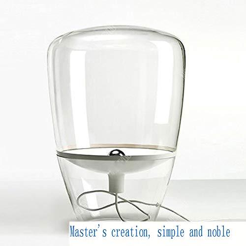 WETRR High Clear Blown Glastisch Lampe, Modernes Schreibtischlicht für Wohnräume Büros, die für das Lesen von Büchern in Ihrem Schlafzimmer usw. Dimmbar sind,White,whitereflector