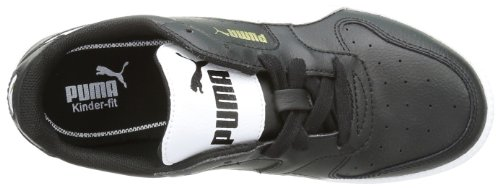 Puma Icra Unisex-Kinder Sneakers Schwarz (black-white-team gold 01)