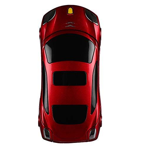 MTR Car Design Keypad Flip Phone with Dual Sim | 0.08mp Camera Mp3 Player and Flashlight Red