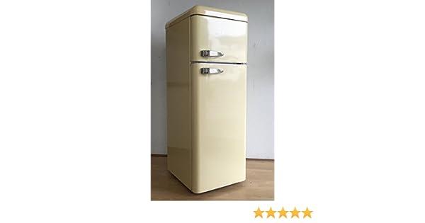 Retro Kühlschrank Beige : Five5cents g215 kühlgefrierkombination creme glänzend retro