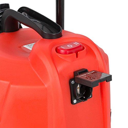 Waldbeck Cyclone • Nass-Trockensauger • Industriesauger • 3-in-1 Sauger • 1200 Watt • IPX4 Schutzklasse • 25 Liter Wassertank • integrierte Steckdose • umfangreiches Zubehör • Blasfunktion •rot - 7