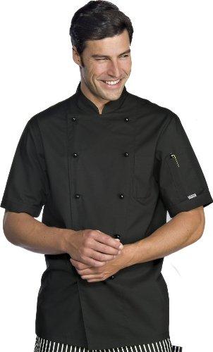 Kochjacke Action schwarz kurzarm Gr. S (Kurzarm-kochjacke)