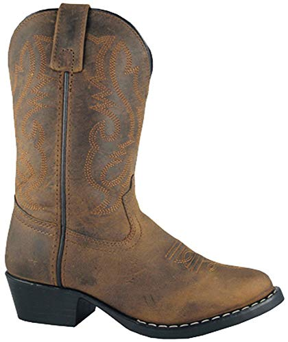 Basic-western-boot (Smoky Mountain Stiefel Herren Denver Leder Western Stiefel, Herren, Oil Distress Brown)