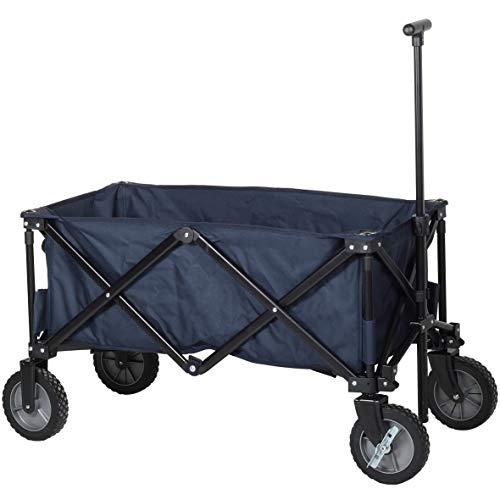 Campart Travel HC-0910 Carrito de jardín plegable, capacidad 70 kg, azul