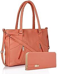EDGEKART Premium PU Leather Women's And Girl's Handbag And Wallet Clutch Combo_ET05