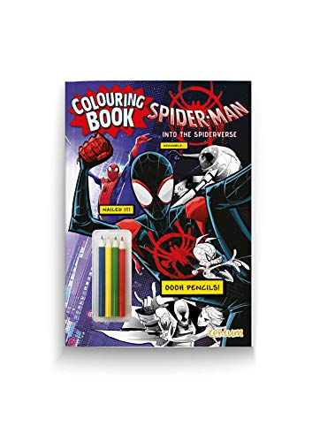 Spider-Man: Into the Spider-Verse Colouring Book with Pencils