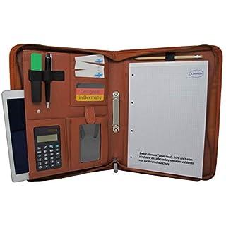 8efb5bba1479e Schreibmappe K.DESIGNS A4 braun – Die Mappe ist aus hochwertigem imitiertem  Leder - Ihr