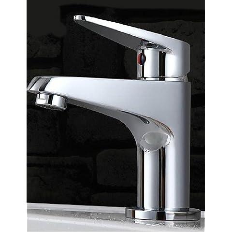 Orificio único cromo Cuenca Mezclador lavabo grifo Grifo lavabo de montaje de cubierta de baño de tap tap tap vanidad simple de lujo elegante y clásico diseño duradero