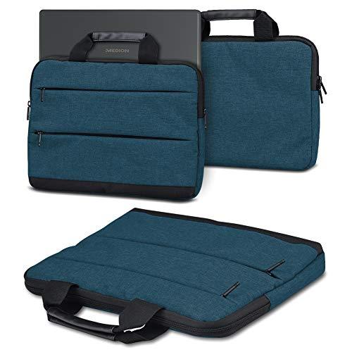 NAUC Sleeve Hülle kompatibel für Medion Akoya E4272 Convertible Tasche Schutzhülle Laptop mit Innentaschen praktische Tragegriffe, Farbe:Blau