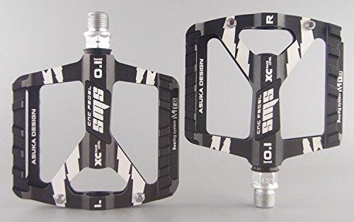 upanbike MTB Road Bike Fahrrad 9/40,6cm Triple Bearing Pedale Aluminium breitere Plattform, schwarz