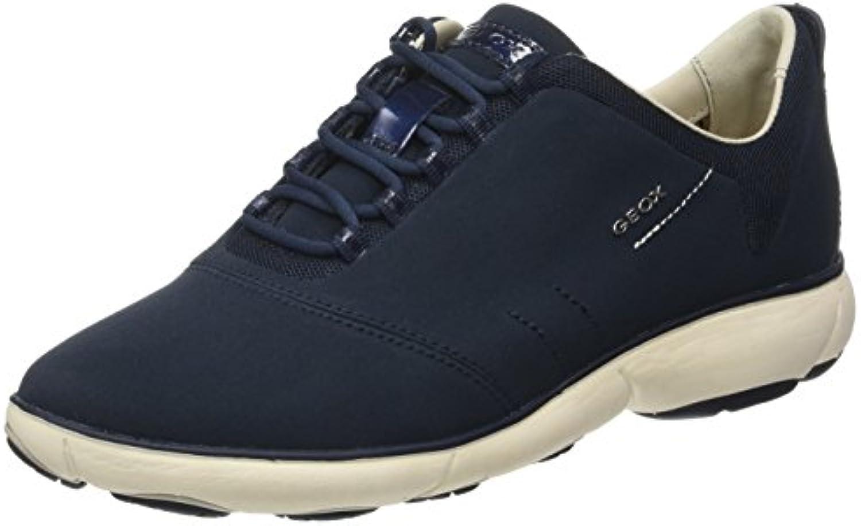 Geox Damen D Nebula A Sneaker Blau (Navy) 36 EU (3 UK)