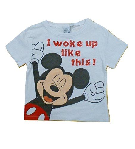 Mickey Mouse Camiseta de Manga Corta - Para Niño Blanco 8 Años