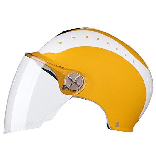 Motorradhelm Männlich Elektroauto Helm Weiblich Sommer Sonnencreme Anti-UV Helm Licht Halbhelm,11-OneSize