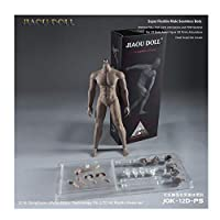 1/6 Male Body Strong Muscle Stainless Steel Skeleton Suitable for Dress Up HT VERYCOOL TTL PHICEN TBLeague (Black muscle color)