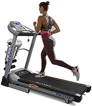 Skyland Powerful Motorized (5 HP Peak) Home Use Treadmill- Foldable & Automatic Incline with Massager Belt