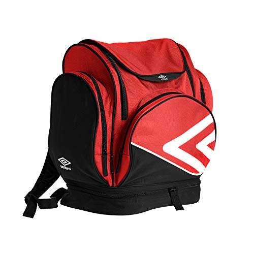 Umbro Pro Training Mochila Tipo Casual, 45 cm, 35 Litros, Red/White/Black
