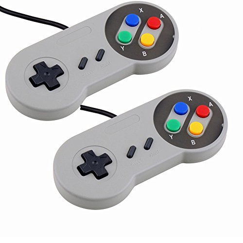 SNES Spiel Controller-2 Pack, Retro USB Super Nintendo Gamepad Joystick Joypad Gamestick für Windows PC Mac Linux Android Raspberry Pi 3 Dampf Sega Genesis Higan