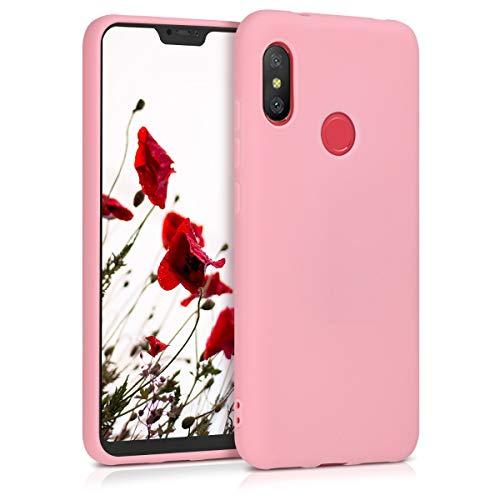 kwmobile Funda para Xiaomi Redmi 6 Pro/Mi A2 Lite - Carcasa para móvil en TPU Silicona - Protector Trasero en Rosa Claro Mate