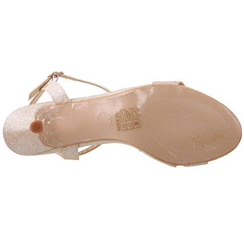 Unze Sandales de mariée embellies Femmes de Adona ' Or