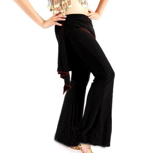 BellyLady Schwarz Tribal Belly Dance/Yoga Bequeme Hosen/Bauchtanz - Bauchtanz Tribal Fusion Kostüm