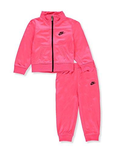 Nike 16C409-A4F, Trainingsanzug, Mädchen - Rosa Fluo - Größe 12M / 75-80 cm -