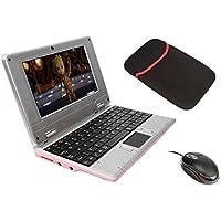 "Latest Mini Laptop Notebook Netbook Ordenador Portátil de regalo de Navidad para niños HDMI écr.7.0""-(WiFi, Ethernet, 1.5GHz, 8GB) Tablet PC–Google Android 4.4 Rose-4 GO 7inch"