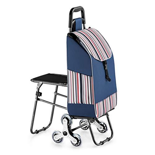 carrello della spesa Pieghevole e Carrello per Arrampicata per 6 Ruote e drogheria, Design Impermeabile e sedili Dietro Il Carrello