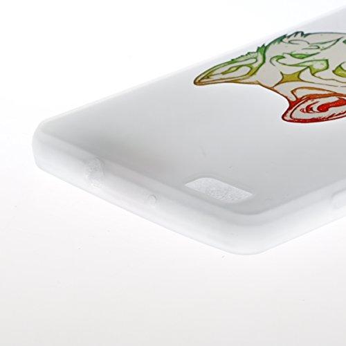 Coque Huawei P8 Lite Transparent,Coque Silicone pour Huawei P8 Lite,Ekakashop Ultra Mince Mignon Panda Motif Housse de Protection Crystal Clair Souple Gel Flexible Souple Case Coque Protecteur Back Co Loup