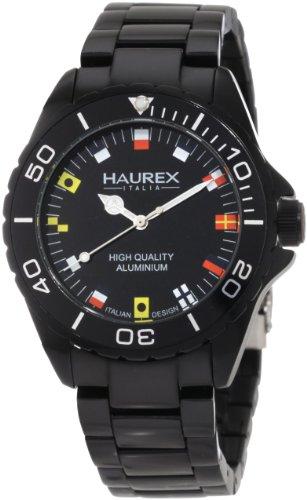 Haurex Italy Men's 7K374UNF Ink Black Aluminum Bracelet Watch