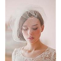 &hua Accesorios para el cabello diadema velo de novia velo de novia , white ,