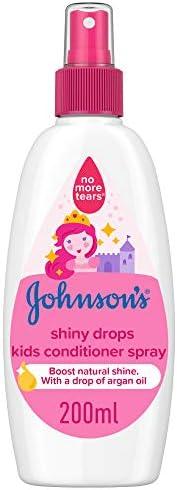 JOHNSON'S Toddler & Kids Conditioner Spray - Shiny Drops, Formula Free of Parabens & Dye