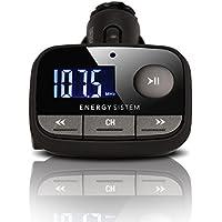Energy Sistem f2 Black Knight - Transmisor FM para coche (MP3, lector tarjetas SD, USB-HOST, Line-in) color negro
