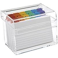 Osco - Caja de Índices adhesivos, transparente - kit con 25 indices A hasta Z y 100 hojas rayadas