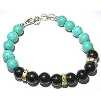 Onyx-Armband, Modeschmuck, für Herren und Damen, Geschenk-Accessoire, Kristall, Gesundheits-Chakra, positive Energie... preisvergleich bei billige-tabletten.eu