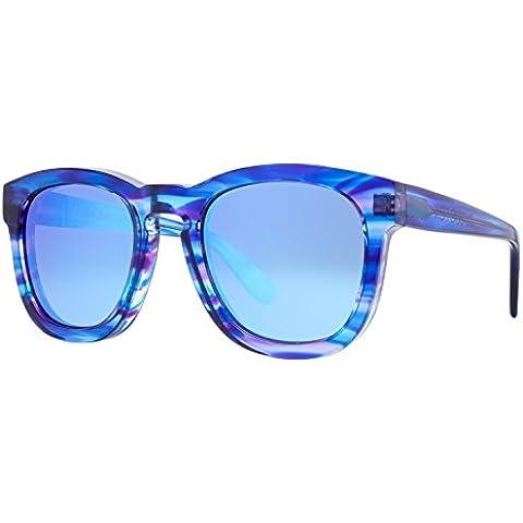 Wildfox Occhiali da sole Deluxe classico Fox in blu Tiger EACCFXM001