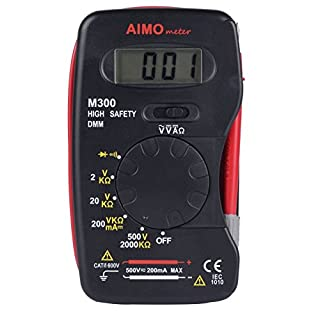 Aimometer M300 Mini Multimeter Handheld Digital DMM DC AC Ammeter Voltmeter Ohm Meter with Diode and Continuity Test